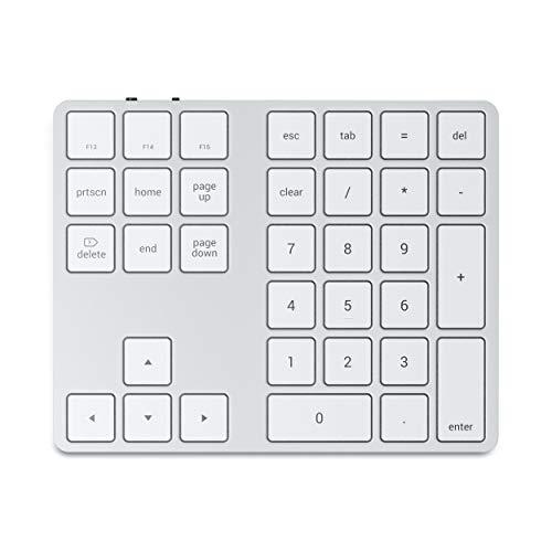 SATECHI erweitertes numerisches Bluetooth-Keypad - wiederaufladbarer Ziffernblock - Kompatibel mit iMac Pro/iMac, 2020/2019 MacBook Pro/Air, iPad Air, iPad Pro, iPhone 12 Max Pro/12 Mini/12 und mehr