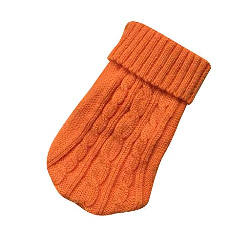 Knit Cat Turtleneck Sweater,Pet Dog Puppy Christmas Coat Clothes,Small Warm Costume Apparel,Cute Cloth Dog Cloth,Super Cute Animal Cloth,for Autumn & Winter,Multiple Size for Choice (Orange, XL)