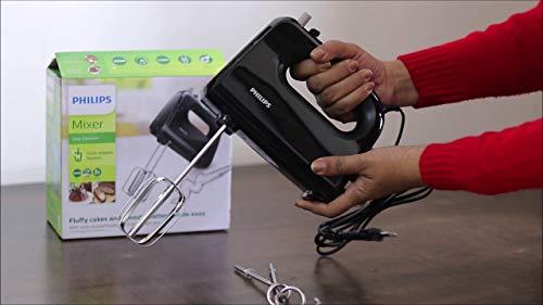 Philips HR3705/10 300-Watt Hand Mixer, Black