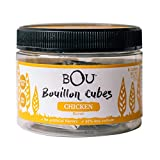 BOU Chicken Flavored Bouillon Cubes, Pack of Six (6) 2.53 Ounce Containers Packed with Natural, Traditional Ingredients, Gluten-Free