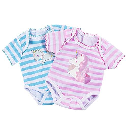 OMZGXGOD Ropa de muñecos,Trajes para Baby Born,Ropa de Muñecas para New Born Baby Doll, Mameluco para 43cm Muñecas, Conjunto de 2