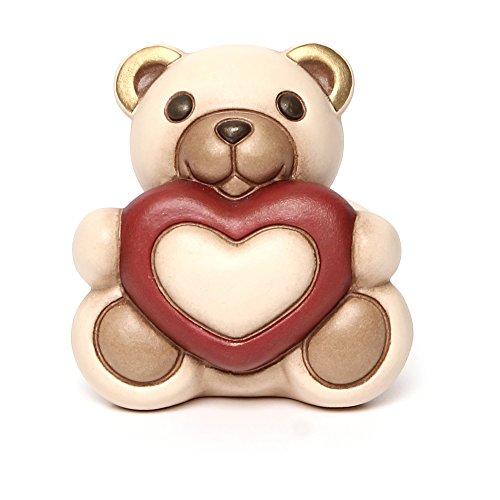 THUN - Teddy Max con Cuore - I Classici, Figure - Idea Regalo - Ceramica - h 8,3 cm - Formato Piccolo