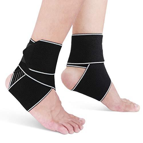 AVIDDA Sprunggelenk Bandage Für Damen und Herren,Einstellbares Komfortabel Fußbandage,Atmungsaktiv Achillessehnenbandage,Compression Ankle Support Wrap Eine Grösse passt allen,Für Den Sportschutz