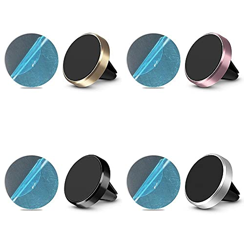 GAOJIA Soporte de teléfono de la ventilación Universal del teléfono del teléfono del imán del Soporte del teléfono del Coche magnético (Color : Silver)