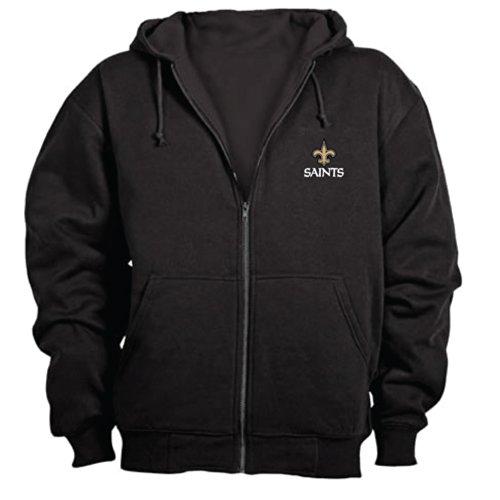 Dunbrooke NFL Craftsman Full Zip Thermal Hoodie, New Orleans Saints - Medium