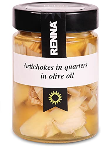 Carciofi a spicchi in olio di oliva - Renna Antipasti - 6 vasetti da 300 gr