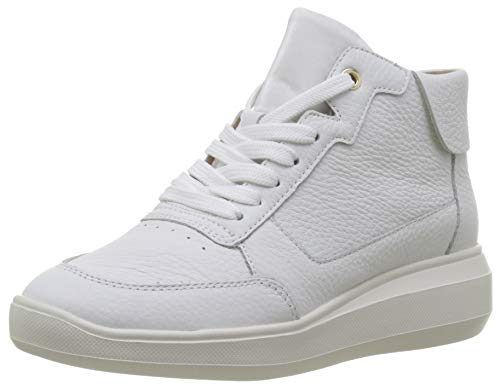 Geox Damen D RUBIDIA B Hohe Sneaker, Weiß (White C1000), 37 EU