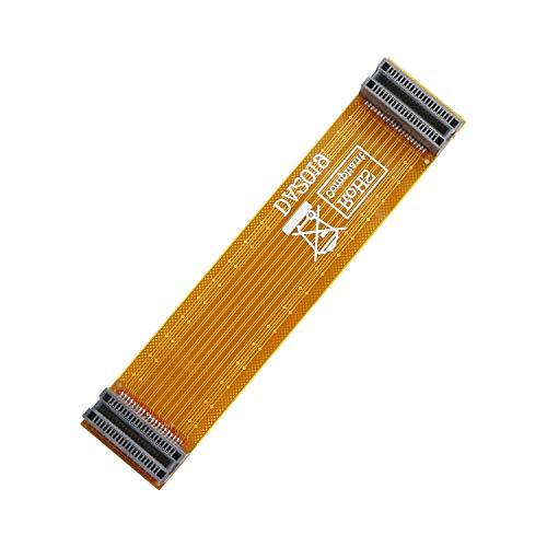 Gelrhonr Grafikkartenbrücke Crossfire Drahtbandkabel, flexibles ATI CF Dual-Grafikkarte, 9 cm, weiches Brückenkabel, A-Karten-Anschluss-Adapter für ATI/AMD-Video-Grafikkarte, lang, 95 mm