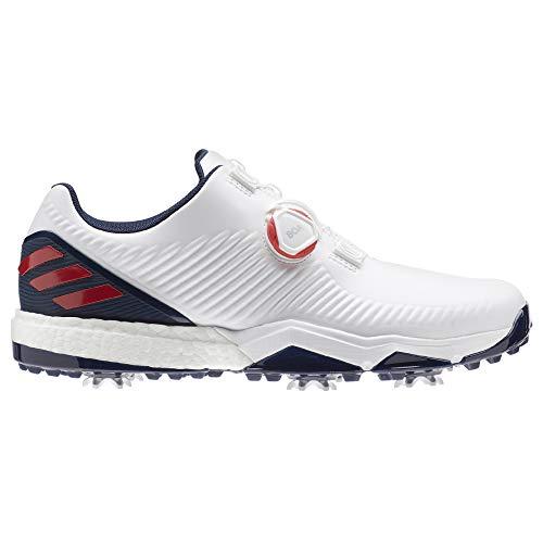 adidas Herren Adipower 4orged Boa Golfschuhe, Weiß (Blanco/Azul/Rojo F34186), 48 2/3 EU