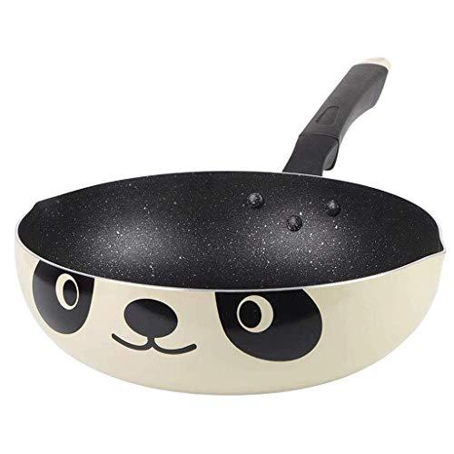 LGR Antihaft-Bratpfanne, tragbare Panda-Pfanne Universal Wok Aluminium Pot Cute