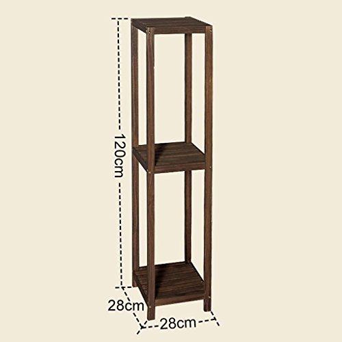 FZN Salon Plancher Balcon Bois Multicouche Fleur Minimaliste siège Moderne Racks de Fleurs en Bois Pots de Fleurs (Taille : 28 * 28 * 120cm)