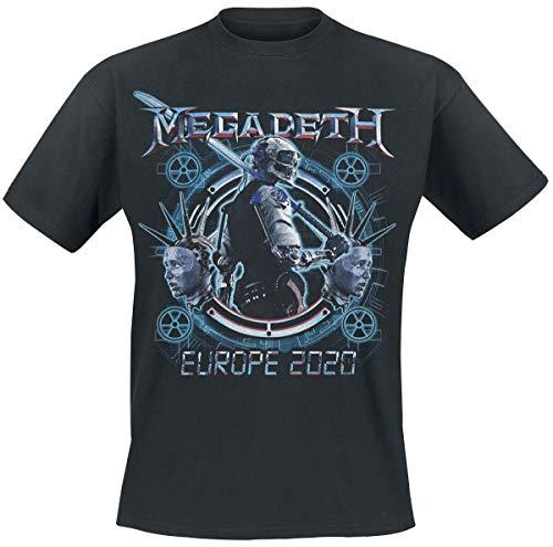 Megadeth Dystopia Hombre Camiseta Negro, Regular