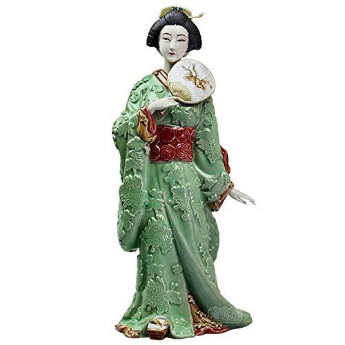 DIAOSUJIA Cerámicas Antiguas Señoras Japón Kimono Geisha Lady Estatua Figura Figurilla De Porcelana Artesanal Decoracion Coleccionable