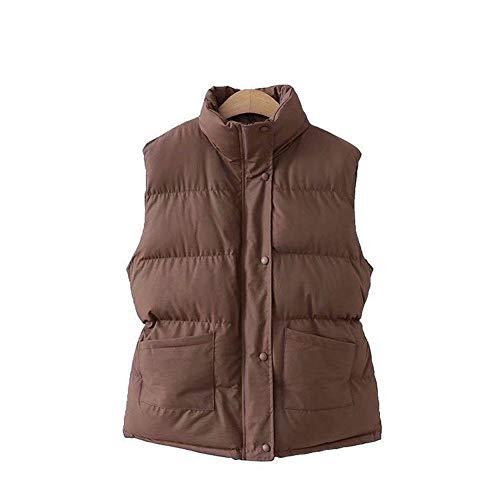 HANGMANGONGLU dames gilets kanten kraag dubbele zak katoenen vest jas voor de winter
