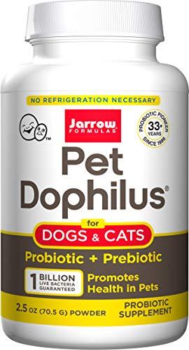 Jarrow Formulas Pet Dophilus, 1 Billion Organisms Per Gram, Probiotic for Pets, 70.5 g (Cool Ship, Pack of 3)