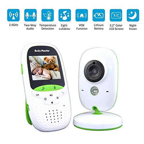 Babyphone Camera Surveillance Wifi b/éb/é⎮HD 1080p⎮Fixation du lit b/éb/é⎮Application Intelligente iOS//Android Baby CAMdy