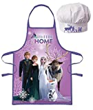 Palleon Frozen - Set da cucina per bambini con grembiule e cappello da cuoco