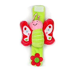 ZHANGNUO Sonajero para Bebé Juguetes Sonajero De Muñeca Y Calcetines De Pie Animal Cute Cartoon Baby Socks Sonajero Toys Azul