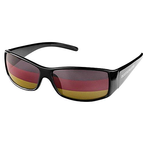 Piersando Sonnenbrille Brille Fahne Fussball EM & WM Länderflagge Augen Fanartikel Land Flagge Deutschland