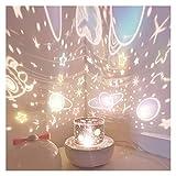YXCKG Proyector De Cielo Estrelladopara Bebés, LED De Luz Nocturna Giratorio Luz Nocturna,Lámpara De Dormir, Fiesta De Proyector De Interior, Cine En Casa, Ambiente De Luz Nocturna (Uso De Enchufe)