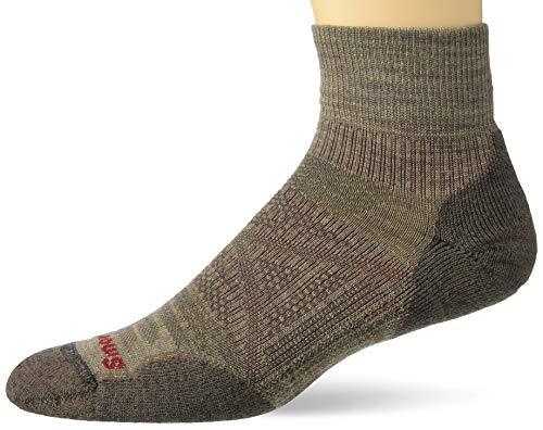 Smartwool PhD Outdoor Light Mini Socks - Men's Wool Performance Sock (FOSSIL, Medium)