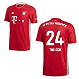 adidas FCB FC Bayern München Trikot Home Heimtrikot 2020 2021 Kinder Tolisso 24 Gr 140