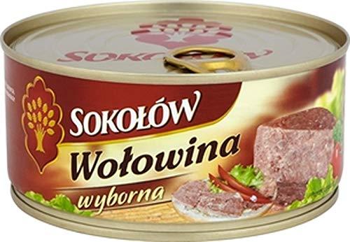 GroßhandelPL Sokolow Konserwe Rindfleisch Wyborna Fleischkonserve 6er Pack ( 6x300g)