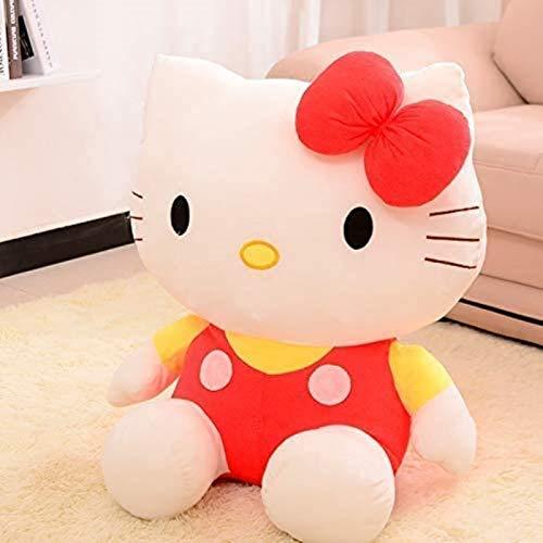 SongJX-Love Gzzxw Lindo Hola Kitty Gato Peluche Juguete Encantador Relleno muñeca Almohada niños Juguete Novia bebé cumpleaños Regalo 45 cm
