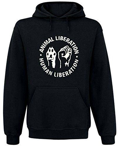 "Animal Liberation - ""Pfote Faust, Kapuzenpullover, Farbe: Schwarz, Größe: S"