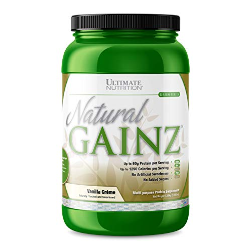 Ultimate Nutrition Natural Gainz Whey Protein Powder - Natural Gainer Protein with Micellar Casein and Milk Protein, Vanilla, 3.6 Pounds