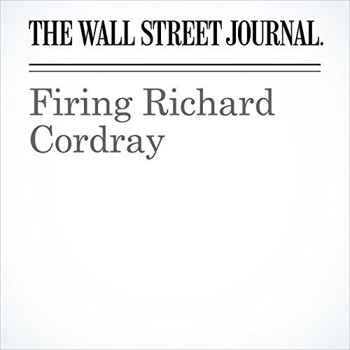 Firing Richard Cordray copertina