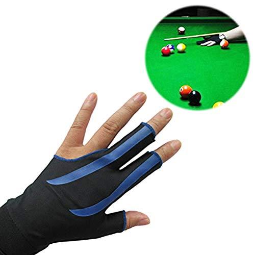 Billiard Handschuh, 3 Finger Handschuhe Billard Snooker Queue Links Snooker Handschuhe für Männer Frauen Erwachsene
