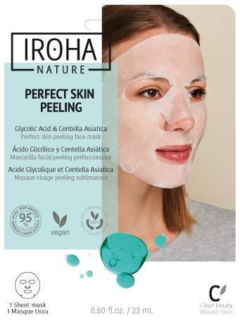 Iroha Nature - MASCARILLA PERFECT SKIN PEELING Ácido Glicólico Mascarilla facial peeling perfeccionador