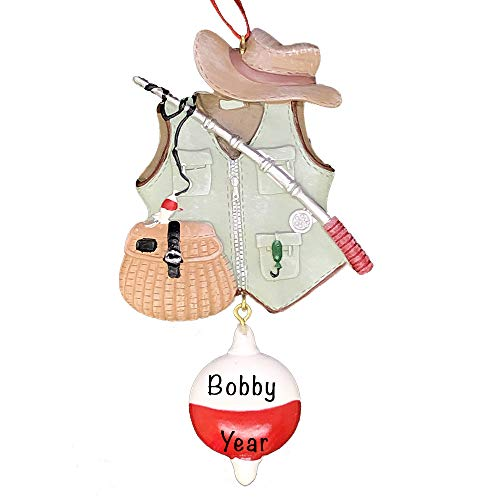 2021 Ornament Country Christmas Decorations – Fishing Vest Fishing Gear Personalized Christmas Ornaments Christmas Tree Decor – Camping Christmas Ornaments, Outdoorsman Gifts, Camping Gifts