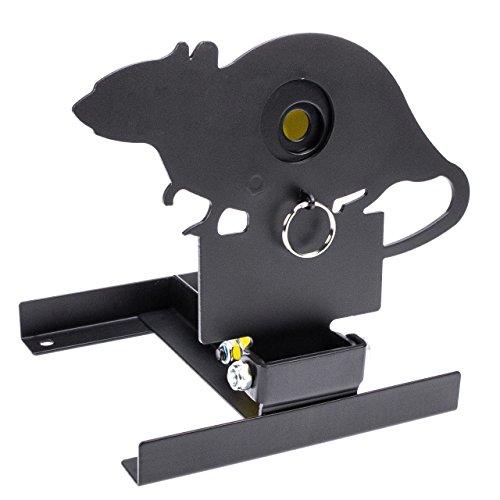 InnoMar Field Target Ratte mit variabler Trefferzone (15-40mm) - Klappfallscheibe für Luftgewehre und Softairwaffen ab 3,0 Joule