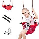 YunNasi Kinderschaukeln Handgewebter Schaukelsitz für Kinder Höhenverstellbar Schaukel für Garten Indoor Outdoor (Stil 3)