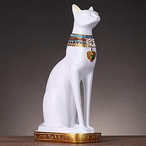 RSRZRCJ Statues & Sculptures Chanceux Chat Sculpture Égyptien Chat Dieu Décoration Table...