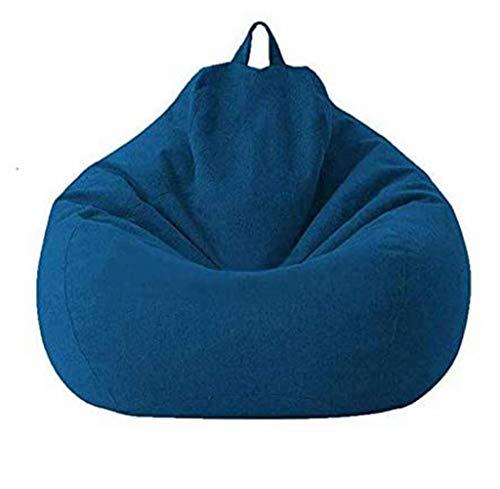 JUNGEN Sitzsack-Sesselbezug Baumwoll Leinen Liege SitzsackSitzsackbezug für Sofa und Couch Sitzsackbezug für Kinder, Sitzsack-Bezug ohne Füllung