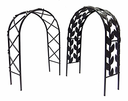 "Set of Two Miniature Fairy Garden Arches - 7"" high (Black)"