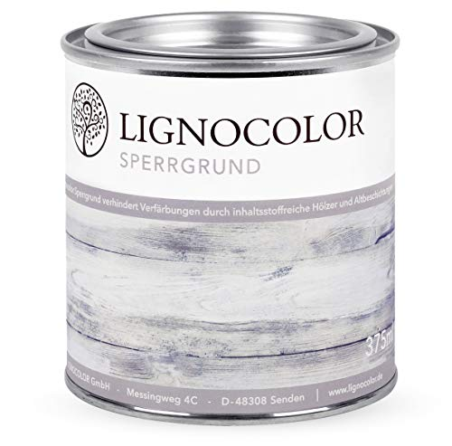 Lignocolor barbecue primer op waterbasis isolatieprimer krijtverf 375 ml 1
