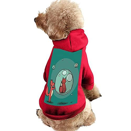 Perro Gato Sudadera con Capucha Mascota Ropa de Invierno para Mascotas Chaleco Disfraces Abrigo Ropa de Algodón para Perros Pequeños Medianos (XXL, Zorro Rojo)