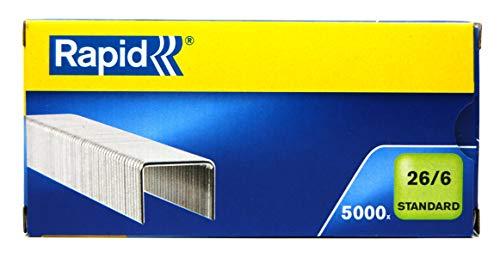 24//6 mm 5x Leitz 55700000 Heftklammer 5000 Stück verzinkt
