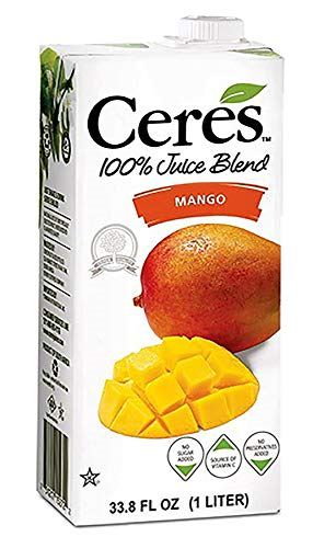 Ceres 100% All Natural Pure Fruit Juice Blend, Mango - Gluten Free, Rich in Vitamin C, No Added Sugar or Preservatives, Cholesterol Free - 33.8 FL OZ (Pack of 1)