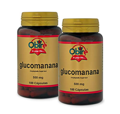 Glucomanano 500 mg. 100 capsulas (Pack 2 unid.)