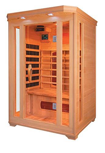 XXL Luxus LED Infrarotsauna Infrarotkabine-Wärmekabine Sauna +Radio USB MP3