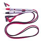 NewIncorrupt Línea de cables de prueba Cable de prueba de punta fina Punta fina 1000V 10A Aguja de cobre chapada en oro Cable de prueba Multímetro Cable de prueba