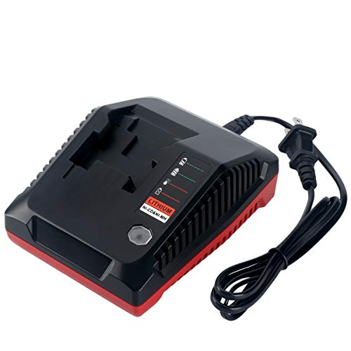 Biswaye 18V Battery Charger PCXMVC PCMVC Replacement for Porter Cable 18V Lithium-Ion & NiCad NiMh Battery PC18B PC18B-2 PC18BL PC18BLX PC18BLEX PCC489N Charger
