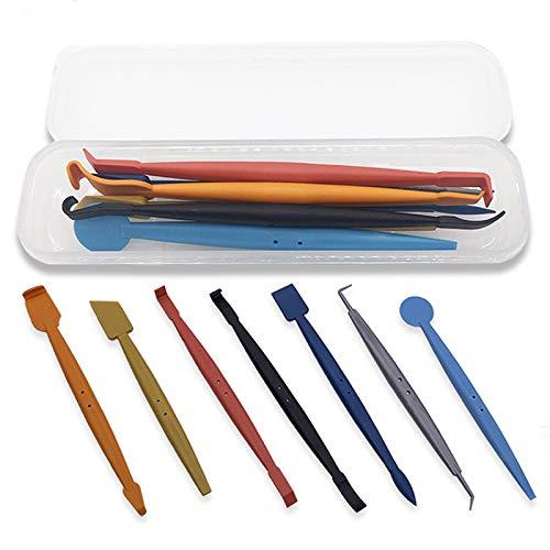 RXING 7 in 1 Magnet Micro Rakel Set Unterschiedliche Folienrakel zum Folie Kante Verschluss Steck für Autofolie Tönungsfolie Fensterfolie Werkzeug