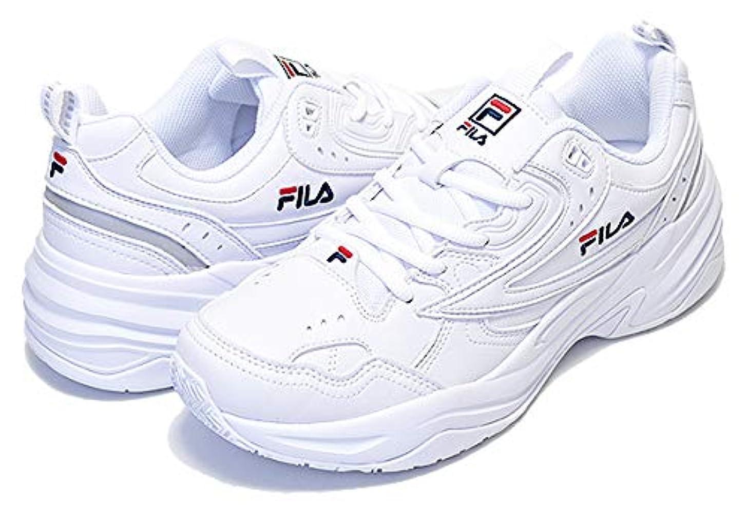 宙返り酸化物運河[フィラ] ピースワイズ PIECEWISE white スニーカー ホワイト 厚底 スニーカー FS1SIA3280X WWT 白 DAD SHOE ダッド シューズ [並行輸入品]