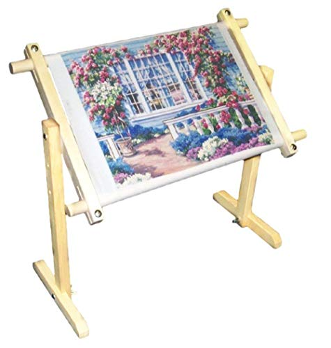 Adjustable Embroidery Stand, Wooden Cross Stitch Frame Floor Stand...